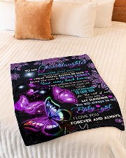 """YOUR WAY BACK HOME - TO GRANDDAUGHTER FOR YAYA Small Fleece Blanket - 30"""" x 40"""" aos-coral-fleece-blanket-30x40-lifestyle-front-01"""