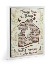 I MISS YOUR EVERYTHING Floating Framed Canvas Prints White tile