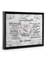 MY HEART - TO GRANDDAUGHTER FROM GRANDMA Floating Framed Canvas Prints Black tile