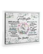 MY HEART - TO GRANDDAUGHTER FROM GRANDMA Floating Framed Canvas Prints White tile
