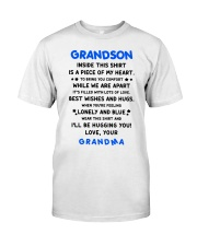 I'LL BE HUGGING YOU - BEST GIFT FOR GRANDSON Premium Fit Mens Tee thumbnail