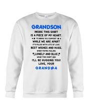 I'LL BE HUGGING YOU - BEST GIFT FOR GRANDSON Crewneck Sweatshirt thumbnail