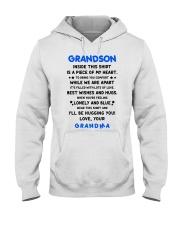 I'LL BE HUGGING YOU - BEST GIFT FOR GRANDSON Hooded Sweatshirt thumbnail