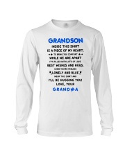 I'LL BE HUGGING YOU - BEST GIFT FOR GRANDSON Long Sleeve Tee thumbnail