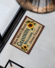"""WELCOME OTHERS TOLERATED - GREAT GIFT FOR MOM MOM Doormat 22.5"""" x 15""""  aos-doormat-22-5x15-lifestyle-front-08"""
