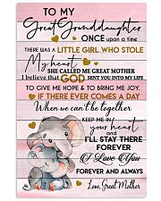 MY HEART - BEST GIFT FOR GREAT GRANDDAUGHTER 11x17 Poster front