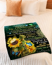 """MY BEST FRIEND - TO GRANDDAUGHTER FROM GRANDMA Small Fleece Blanket - 30"""" x 40"""" aos-coral-fleece-blanket-30x40-lifestyle-front-01"""