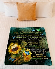 """MY BEST FRIEND - TO GRANDDAUGHTER FROM GRANDMA Small Fleece Blanket - 30"""" x 40"""" aos-coral-fleece-blanket-30x40-lifestyle-front-04"""