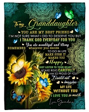 """MY BEST FRIEND - TO GRANDDAUGHTER FROM GRANDMA Small Fleece Blanket - 30"""" x 40"""" front"""