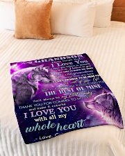 """I BELIEVE IN YOU - FROM GRANDMA TO MY GRANDSON Small Fleece Blanket - 30"""" x 40"""" aos-coral-fleece-blanket-30x40-lifestyle-front-01"""