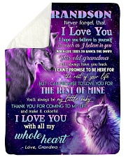 """I BELIEVE IN YOU - FROM GRANDMA TO MY GRANDSON Large Sherpa Fleece Blanket - 60"""" x 80"""" thumbnail"""