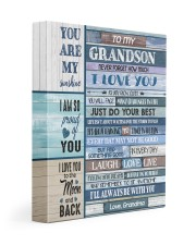 JUST DO YOUR BEST - SPECIAL GIFT FOR GRANDSON 11x14 Gallery Wrapped Canvas Prints front