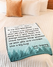 """KEEP ME IN YOUR HEART - GRAMMY TO GRANDDAUGHTER Small Fleece Blanket - 30"""" x 40"""" aos-coral-fleece-blanket-30x40-lifestyle-front-01"""