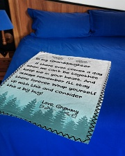 """KEEP ME IN YOUR HEART - GRAMMY TO GRANDDAUGHTER Small Fleece Blanket - 30"""" x 40"""" aos-coral-fleece-blanket-30x40-lifestyle-front-02"""