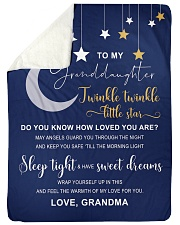 "TWINKLE TWINKLE - BEST GIFT FOR GRANDDAUGHTER Large Sherpa Fleece Blanket - 60"" x 80"" thumbnail"