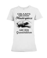 GRAM'S GREATEST MASTERPIECE FOR GRANDCHILDREN  Premium Fit Ladies Tee tile