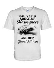 GRAM'S GREATEST MASTERPIECE FOR GRANDCHILDREN  V-Neck T-Shirt tile