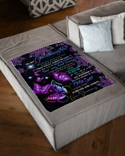 """BUTTERFLY WAY BACK HOME - GRAMMY TO GRANDDAUGHTER Small Fleece Blanket - 30"""" x 40"""" aos-coral-fleece-blanket-30x40-lifestyle-front-03"""