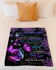 """BUTTERFLY WAY BACK HOME - GRAMMY TO GRANDDAUGHTER Small Fleece Blanket - 30"""" x 40"""" aos-coral-fleece-blanket-30x40-lifestyle-front-04"""