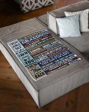 """FOLLOW YOUR DREAMS - NANA TO GRANDSON Small Fleece Blanket - 30"""" x 40"""" aos-coral-fleece-blanket-30x40-lifestyle-front-03"""