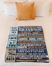 """FOLLOW YOUR DREAMS - NANA TO GRANDSON Small Fleece Blanket - 30"""" x 40"""" aos-coral-fleece-blanket-30x40-lifestyle-front-04"""