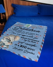 """IT A BIG HUG - LOVELY GIFT FOR GRANDSON Small Fleece Blanket - 30"""" x 40"""" aos-coral-fleece-blanket-30x40-lifestyle-front-02"""