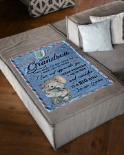 """IT A BIG HUG - LOVELY GIFT FOR GRANDSON Small Fleece Blanket - 30"""" x 40"""" aos-coral-fleece-blanket-30x40-lifestyle-front-03"""