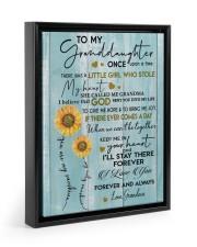 I LOVE YOU FOREVER - BEST GIFT FOR GRANDDAUGHTER 11x14 Black Floating Framed Canvas Prints thumbnail