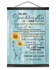 I LOVE YOU FOREVER - BEST GIFT FOR GRANDDAUGHTER 12x16 Black Hanging Canvas thumbnail