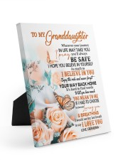 I LOVE YOU - LOVELY GIFT FOR GRANDDAUGHTER Easel-Back Gallery Wrapped Canvas tile
