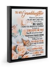 I LOVE YOU - LOVELY GIFT FOR GRANDDAUGHTER 11x14 Black Floating Framed Canvas Prints thumbnail