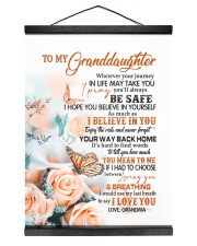 I LOVE YOU - LOVELY GIFT FOR GRANDDAUGHTER 12x16 Black Hanging Canvas thumbnail