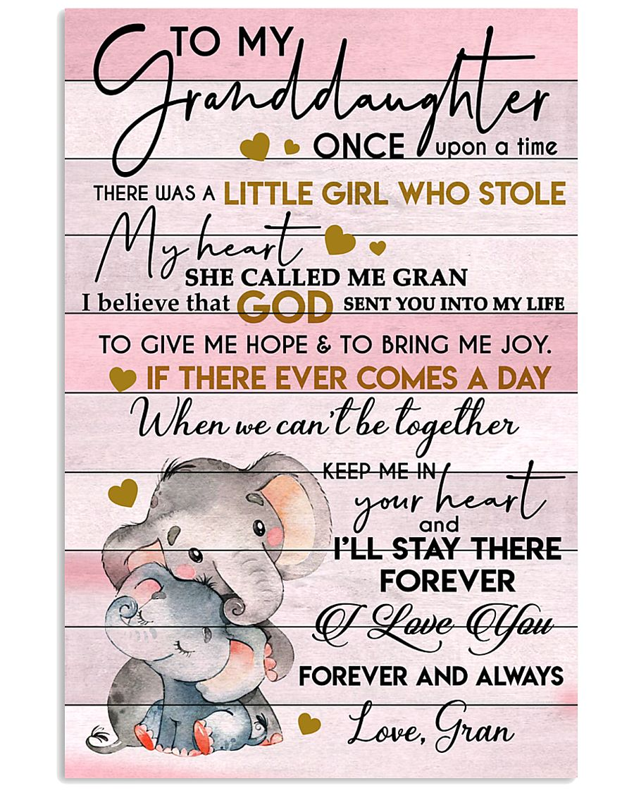 I LOVE YOU - LOVELY GIFT FOR GRANDDAUGHTER 11x17 Poster