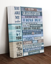 I LOVE YOU - TO GRANDDAUGHTER FROM GRANDMA 11x14 Gallery Wrapped Canvas Prints aos-canvas-pgw-11x14-lifestyle-front-17