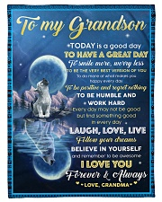 """FOLLOW YOUR DREAMS - GRANDSON GIFT WITH WOLF Small Fleece Blanket - 30"""" x 40"""" front"""