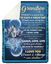 FOLLOW YOUR DREAMS - GRANDSON GIFT WITH WOLF Sherpa Fleece Blanket tile