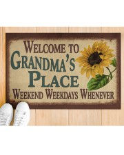 """WELCOME TO GRANDMA'S PLACE Doormat 22.5"""" x 15""""  aos-doormat-22-5x15-lifestyle-front-03"""