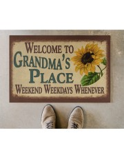 """WELCOME TO GRANDMA'S PLACE Doormat 22.5"""" x 15""""  aos-doormat-22-5x15-lifestyle-front-04"""