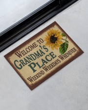 """WELCOME TO GRANDMA'S PLACE Doormat 22.5"""" x 15""""  aos-doormat-22-5x15-lifestyle-front-09"""
