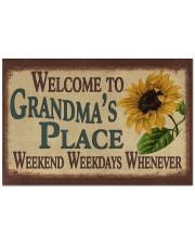 "WELCOME TO GRANDMA'S PLACE Doormat 22.5"" x 15""  front"