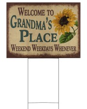 WELCOME TO GRANDMA'S PLACE 24x18 Yard Sign thumbnail