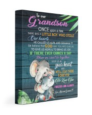 OUR HEART - GREAT GIFT FOR GRANDSON 11x14 Gallery Wrapped Canvas Prints front