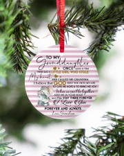KEEP ME IN MY HEART - BEST GIFT FOR GRANDDAUGHTER Circle ornament - single (porcelain) aos-circle-ornament-single-porcelain-lifestyles-07