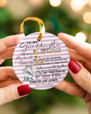 KEEP ME IN MY HEART - BEST GIFT FOR GRANDDAUGHTER Circle ornament - single (porcelain) aos-circle-ornament-single-porcelain-lifestyles-08