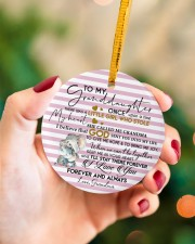 KEEP ME IN MY HEART - BEST GIFT FOR GRANDDAUGHTER Circle ornament - single (porcelain) aos-circle-ornament-single-porcelain-lifestyles-09