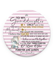 KEEP ME IN MY HEART - BEST GIFT FOR GRANDDAUGHTER Circle ornament - single (porcelain) front