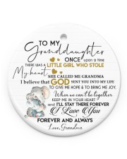 KEEP ME IN MY HEART - BEST GIFT FOR GRANDDAUGHTER Circle Ornament (Porcelain) tile