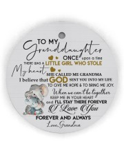 KEEP ME IN MY HEART - BEST GIFT FOR GRANDDAUGHTER Circle Ornament (Wood tile
