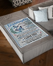 """I LOVE YOU - LOVELY GIFT FOR GRANDDAUGHTER Small Fleece Blanket - 30"""" x 40"""" aos-coral-fleece-blanket-30x40-lifestyle-front-03"""