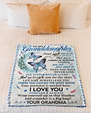 """I LOVE YOU - LOVELY GIFT FOR GRANDDAUGHTER Small Fleece Blanket - 30"""" x 40"""" aos-coral-fleece-blanket-30x40-lifestyle-front-04"""